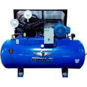 Eagle Electric Stationary Compressor 101120H2-MS208, 10HP, 120 Gal, 36 CFM @ 10 PSI, 1 Phase