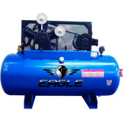 Eagle Electric Stationary Compressor 153120H2-MS208, 15HP, 120 Gal, 44.7 CFM @ 100 PSI, 3 Phase