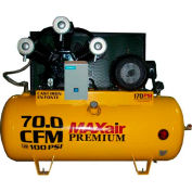 MaxAir Electric Stationary Compressor C153120H1-MS208-MAP, 15HP, 120 Gal, 72 CFM @ 100 PSI, 3 Phase