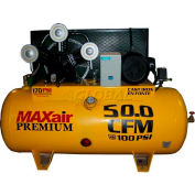 MaxAir Electric Stationary Compressor C155120H1-CS575, 15HP, 120 Gal, 72 CFM @ 100 PSI, 3 Phase
