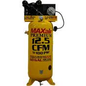 MaxAir Electric Stationary Compressor C4160V1-MAP, 5HP, 208/230V, 60 Gal, 12.5 CFM @ 100 PSI