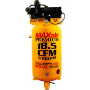 MaxAir Electric Stationary Compressor C5180V1-MAP, 5HP, 208/230V, 80 Gal, 18.5 CFM @ 100 PSI