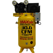 MaxAir Electric Stationary Compressor C7180V1-MS-MAP, 7.5HP, 208/230V, 80 Gal, 30 CFM @ 100PSI, 1 Ph