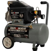 Iron Horse Electric Hand Carry Compressor IHHP1065L, 1HP, 6.5 Gal, 5.1 CFM @ 90 PSI