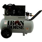 Iron Horse IHP5120H1-US, 5 HP,Portable Compressor,20 Gallon,Horizontal,150 PSI,5.6 CFM,1-Phase 115V