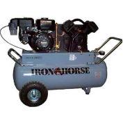 Iron Horse Gasoline Portable Compressor IHP55G25H1, 5.5HP, 25 Gal, 11 CFM @ 90 PSI