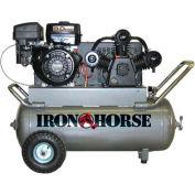 Iron Horse Gasoline Portable Compressor IHP90G25H1, 9HP, 25 Gal, 16.5 CFM @ 90 PSI