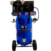 Eagle P3124V1, 3 HP, Portable Compressor, 24 Gallon, Vertical, 150 PSI, 6 CFM, 1-Phase 115V