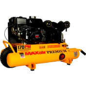 MaxAir Gasoline Portable Compressor TT65G-MAP, 6.5HP, 10 Gal, 12.5 CFM @ 100 PSI