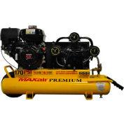 MaxAir Gasoline Portable Compressor TT90G-MAP, 9HP, 10 Gal, 18.5 CFM @ 100 PSI