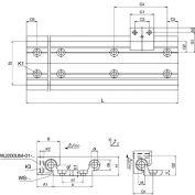 IGUS WS-10-80-1000 1,00mm DryLin W 10-80 Double Guide Rail