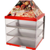 "Wisco Industries®3 Shelf Pizza Display Warmer, Single Door Unit, 18"" W x 24""H x 18""D"