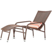 Patio Sense Lido Outdoor Wicker 2-Piece Lounge Set - Mocha