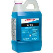 Betco AF315 Disinfectant - 4/Case, 2 Liter Bottle - Citrus Floral, Turquoise - 3154700
