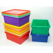"""Plastic Tray - 7-3/4""""W x 13-1/2""""D x 5""""H - Clear"""