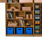 "Preschool Cubby Storage Unit, 10 Compartments, No Tray, 39""W x 14""D x 46""H, Natural"