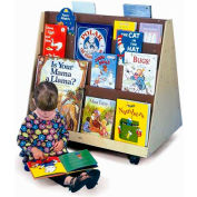 Whitney Brothers Two-Sided Mobile Book Display