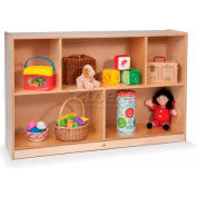 "Toddler Basic Single Cubby Storage Unit, No Tray, 48""W x 12""D x 30""H, Natural"