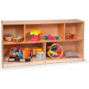 """Toddler Basic Single Cubby Storage Unit, No Tray, 48""""W x 12""""D x 24""""H, Natural"""
