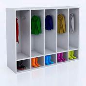 Whitney Brothers 5-Section Kid's Coat Locker - White