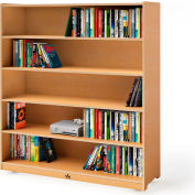 """Whitney Brothers 54"""" Tall Mobile Adjustable Shelf Cabinet"""