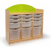 Whitney Brothers Rainbow Tray Storage Cabinet Green