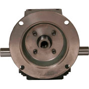 Worldwide HdRF206-60/1-DE-56C Cast Iron Right Angle Worm Gear Reducer 60:1 Ratio 56C Frame