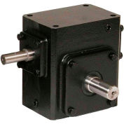 Worldwide HdRS237-40/1-R Cast Iron Right Angle Worm Gear Reducer 40:1 Ratio