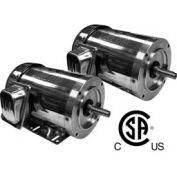 Worldwide Electric SS Washdown Duty Motor WSSNV13-18-56CB, TENV, Rigid-C, 3 PH, 1/3 HP, 1800 RPM