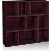 Way Basics Stackable Oxford Modular Storage, Espresso