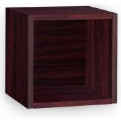 Way Basics Eco Wall Cube Shelf, Espresso