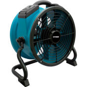 XPOWER Stackable Axial Fan W/Built-In Power Outlets For Daisy Chain, Variable Speed, 1/4 HP,1720 CFM