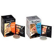 Java One® French Roast Coffee Pods, Regular, Single Cup, 0.3 oz., 14 Pods/Box