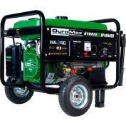 DuroMax XP4850EH 4,850 Watt Hybrid Portable Generator Dual Fuel Electric Start 120/240V
