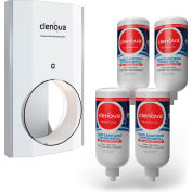 Clenova™ Premium Touchless Hand Sanitizer Starter Kit w/Wall Bracket & 4 Refills - HSD-1001-WK