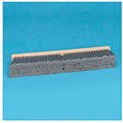 "36"" Gray Flagged Polypropylene Floor Brush Head w/3"" Bristles - BWK20436"
