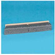 "36"" Gray Flagged Polypropylene Floor Brush Head w/3"" Bristles - BWK20436"
