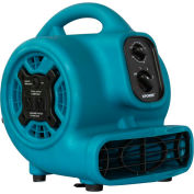 XPOWER Mini Air Mover w/Daisy Chain & 3-Hour Timer, 4 Positions 3 Speeds 1/5 HP - P-230AT-Bl
