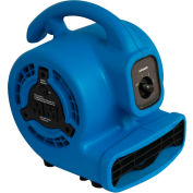 XPOWER Mini Mighty Air Mover, Blower w/Daisy Chain, 3 Speed 1/8 HP - P-80A