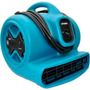 XPOWER Stackable Air Mover W/ GFCI Outlet For Daisy Chain 4 Positions 3 Speeds 1/3 HP - X-600A-Bl