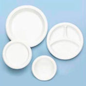 """Tablemate® TBL6644WH, Plastic Plates, 6"""" Dia., White, 125/Pack"""