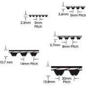 ContiTech Hawk Pd®Synchronous Belt,1040, 8m, 20