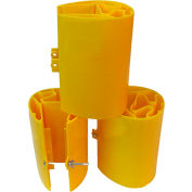 "Yellow Jacket 3"" x 3"" Plastic Rack Protector - YJ 3-3.000 - Pkg Qty 6"