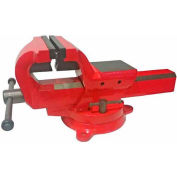 "Yost 6"" Forged Steel Bench Vise, 360° Swivel Base"
