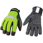 High Visibility Performance Gloves - Safety Lime - Winter - Small