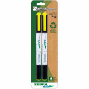 Zebra Eco Zebrite Highlighter - Yellow - 2 Pack