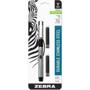 ZebraPen Fountain Pen, Black Ink, Black Barrel, 1 Each
