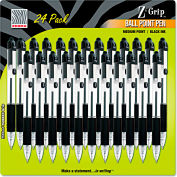 Zebra Z-Grip Retractable Ballpoint Pen, Black Ink, Medium, 24/Pack