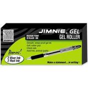 Zebra Jimnie Gel Rollerball Pen, Medium, 0.7mm, Black Ink, 20/Pack + 4 Bonus Pens