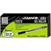 Zebra Jimnie Gel Rollerball Pen, Medium, 0.7mm, Black Ink, 20/Pack + 4 Bonus Pens